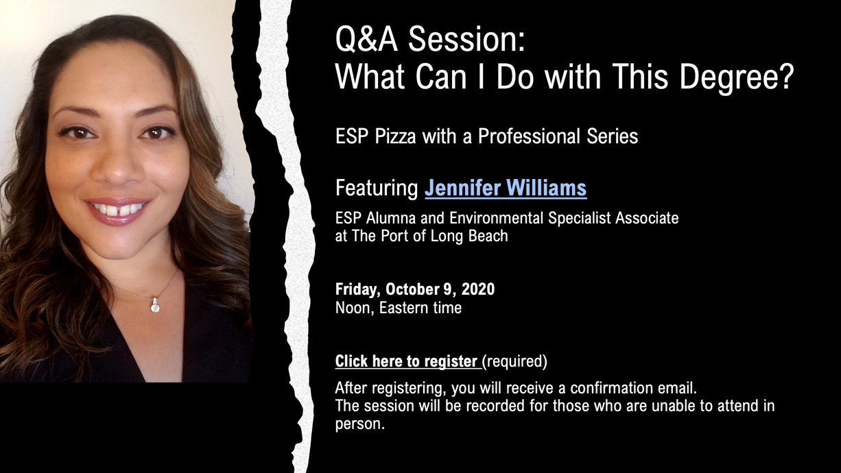 Flyer for J. Williams Oct. 9 Q/A session